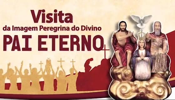Santuário N SRª da Lapa recebe imagem Peregrina do Divino Pai Eterno com Pe. Robson