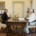 Paz será pauta de encontro entre o Papa e o Presidente russo Putin